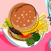 Burger, Fries & Shake Image